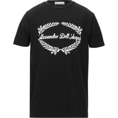 アレッサンドロ デラクア ALESSANDRO DELL'ACQUA メンズ Tシャツ トップス t-shirt Black