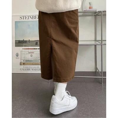 wonderwonder レディース スカート Wizzle Basic Cotton Fleece-lined Long Skirt