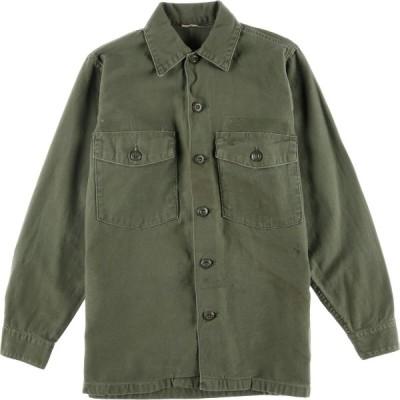 60s 米軍実品 ユーティリティシャツ USA製 メンズS /eaa023918