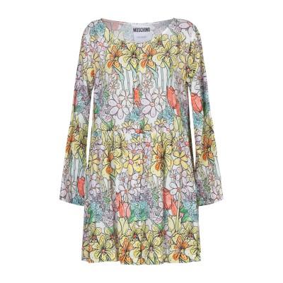 モスキーノ MOSCHINO ミニワンピース&ドレス ホワイト 40 コットン 100% ミニワンピース&ドレス