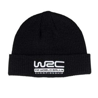 WRC オフィシャル Ribbed ビーニー ブラック ニット キャップ 帽子 防寒