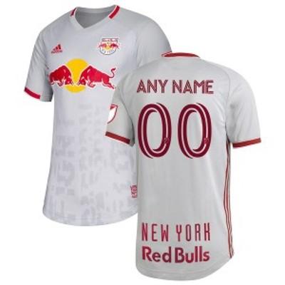 アディダス メンズ Tシャツ トップス New York Red Bulls adidas 2020 Primary Authentic Custom Jersey Gray