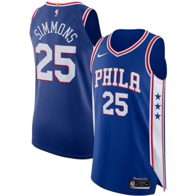 """ナイキ メンズ ジャージ Ben Simmons """"Philadelphia 76ers"""" Nike 2020/21 Authentic Jersey - Icon Edition - Royal"""