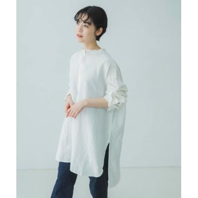 かぐれ / リネンチュニックシャツ WOMEN トップス > シャツ/ブラウス