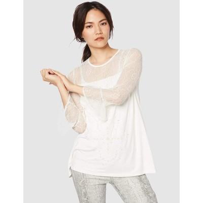 デシグアル Tシャツ Tシャツロングスリーブ レディース 19SWTKAN ホワイト EU XXL (日本サイズ3L相当)