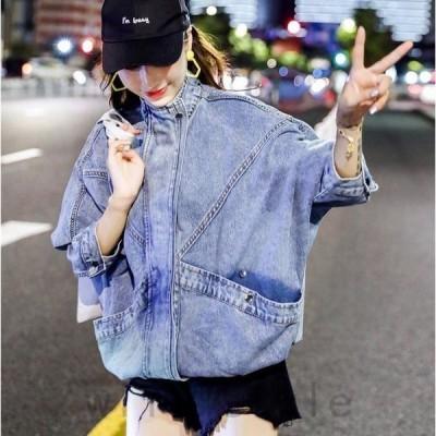 デニムジャケット韓国オルチャンストリートダンス衣装原宿系ジーンズアウタートップス