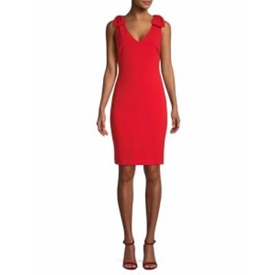 バッジリーミシュカ レディース ワンピース Bow-Accented Sheath Dress