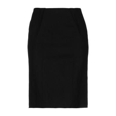 AQUILANO-RIMONDI ひざ丈スカート ブラック 40 ウール 96% / 金属繊維 4% / レーヨン ひざ丈スカート
