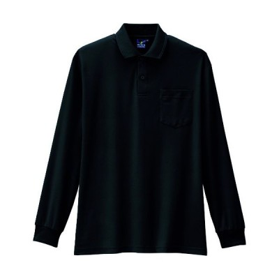 コーコス 制電・防透・消臭長袖ポロシャツ 13ブラック S AS-258-13-S 期間限定 ポイント10倍