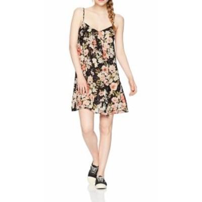 billabong ビラボン ファッション ドレス Billabong NEW Black Womens Size Small S Floral V-Neck Sheath Dress