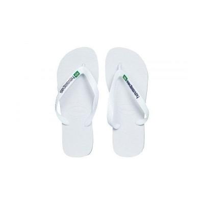 Havaianas ハワイアナス レディース 女性用 シューズ 靴 サンダル Brazil Logo Unisex Flip Flops - White
