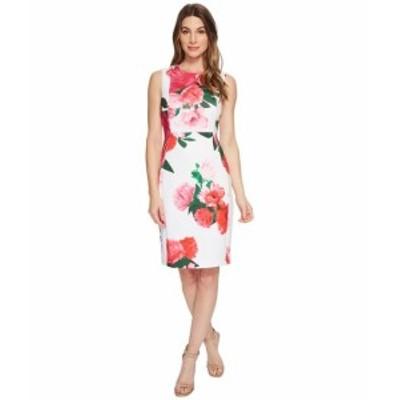 カルバンクライン レディース ドレス Floral Sheath CD8M97EH