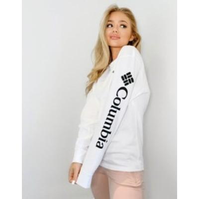コロンビア レディース シャツ トップス Columbia North Cascades long sleeve t-shirt in white White