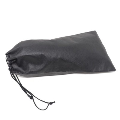 靴 収納 袋 靴袋 不織布 巾着袋 収納袋 黒 ブラック