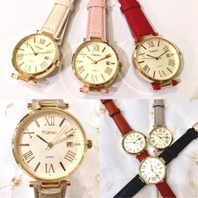 腕時計 カレンダー付き レディース ファッションウォッチ【1年保証書付き】 ST161