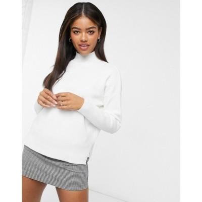 ニュールック レディース ニット・セーター アウター New Look high neck sweater in white