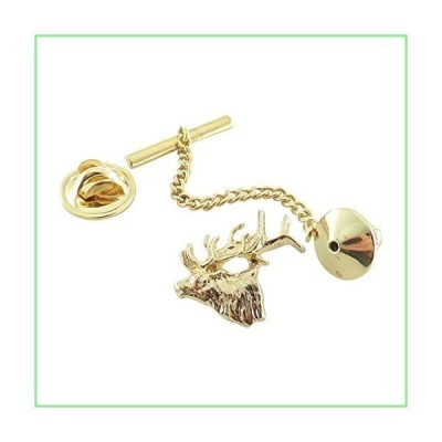 Creative Pewter Designs, Pewter Elk Tie Tack, Gold Plated, MG001TT 並行輸入品