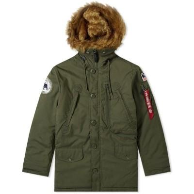 アルファ インダストリーズ Alpha Industries メンズ ジャケット アウター Polar Jacket Dark Green