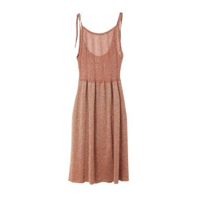 アリジ ALYSI 7分丈ワンピース・ドレス 赤茶色 XS レーヨン 70% / ポリエステル 15% / 金属繊維 15% 7分丈ワンピース・ドレス