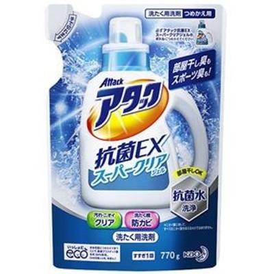 ds-2302401 (まとめ)花王 アタック抗菌EXスーパークリアジェル つめかえ用 770g 1個【×20セット】 (ds2302401)