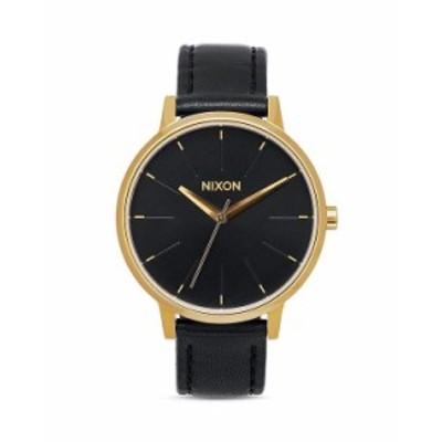 ニクソン レディース 腕時計 アクセサリー Kensington Leather Strap Watch 37mm Black