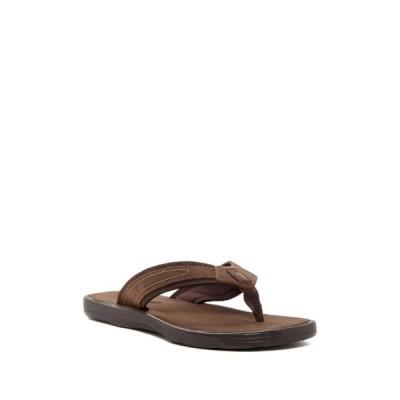 トッミーバハマ メンズ サンダル シューズ Sumatraa Leather Flip Flop DARK BROWN