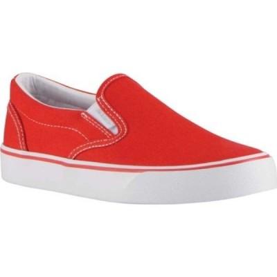 ラグズ Lugz レディース スリッポン・フラット スニーカー シューズ・靴 Clipper 2 Oxford Slip-On Sneaker Mars Red/White Canvas