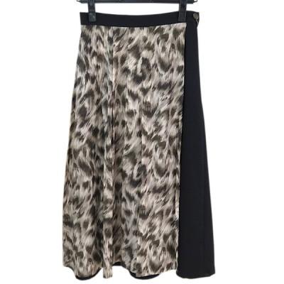【40%off!】 crespi クレスピ  ソフトサキソニー×リバティスカート 日本製 サイズ(38) 品番(304-7011) col.19 ブラック SALE 返品不可