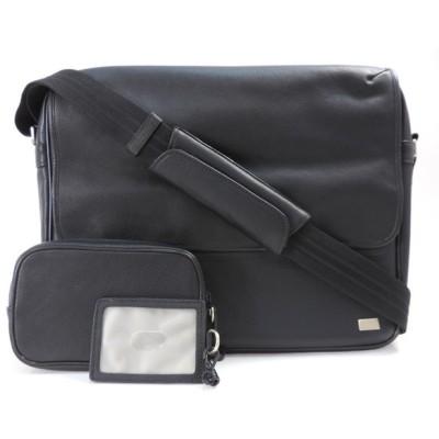ダンヒル ショルダーバッグ メンズ  レザー ブラック QB6010A Dunhill