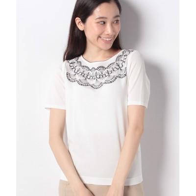 【マダム ジョコンダ】 SONA 刺繍プルオーバー レディース ホワイト 38 MADAM JOCONDE