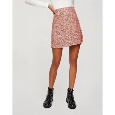 ミスセルフフリッジ レディース スカート ボトムス Miss Selfridge mini skirt with ruffle hem in pink