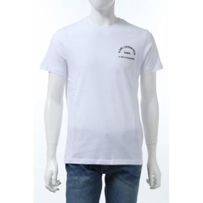 カールラガーフェルド KARL LAGERFELD Tシャツ 半袖 丸首 クルーネック ホワイト メンズ (755052 501220) 送料無料 2020年春夏新作 20KL_