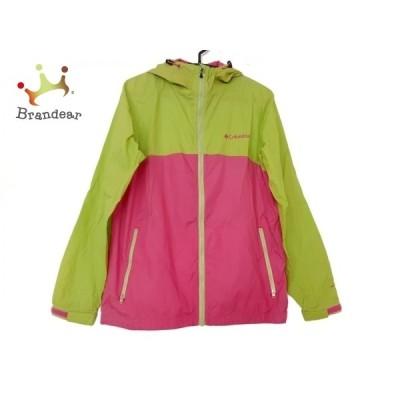 コロンビア ブルゾン サイズL レディース - イエローグリーン×ピンク 長袖/ジップアップ/春/秋 新着 20210107