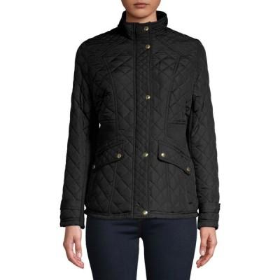ウェザープルーフ Weatherproof レディース コート スタンドカラー アウター stand-collar diamond-quilt coat ブラック