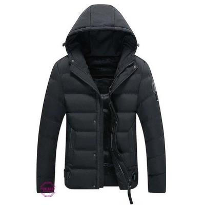 フード付き 中綿ジャケット メンズ 軽量 ジャケット コート 高品質 中綿 薄裏起毛 防寒 防風 秋冬 新作
