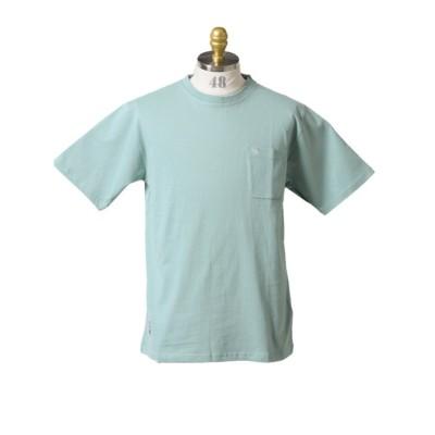 【タカキュー】 アーノルドパーマー/Arnold Palmer 綿天竺 クルー半袖Tシャツ メンズ ブルー M TAKA-Q