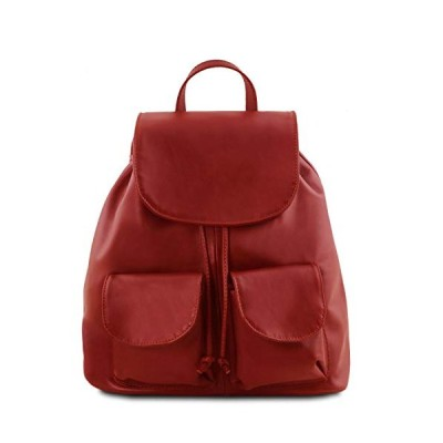 Tuscany Leather Seoul - Leather Backpack Large Size - TL141507 (Red) 並行輸入品