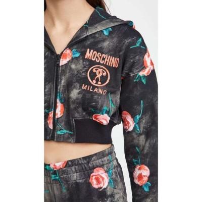 モスキーノ Moschino レディース スウェット・トレーナー クロップド トップス Cropped Sweatshirt Fantasy Print One Color