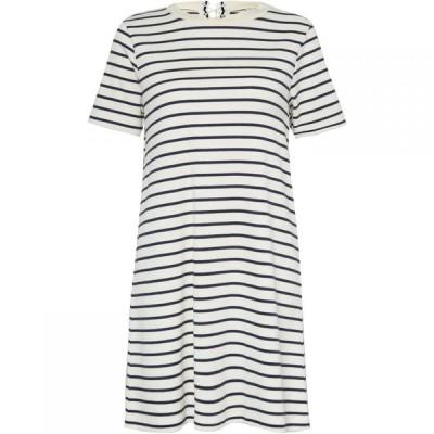 グレート プレインス Great Plains レディース ワンピース レースアップ ミニ丈 ワンピース・ドレス Lace Up Stripe Mini Dress White