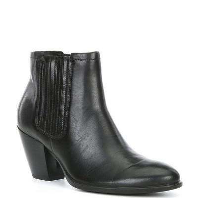 エコー レディース ブーツ&レインブーツ シューズ Shape 55 Western Leather Ankle Booties Black