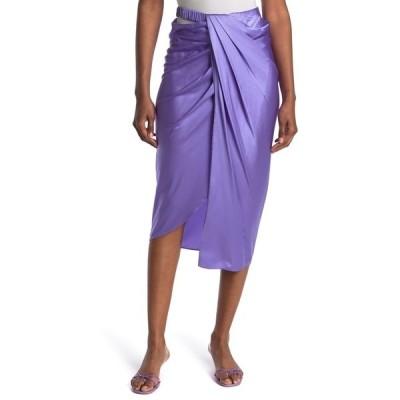 ヘルムート ラング レディース スカート ボトムス Ruched Stretch Silk Skirt VOLTAIC PURPLE