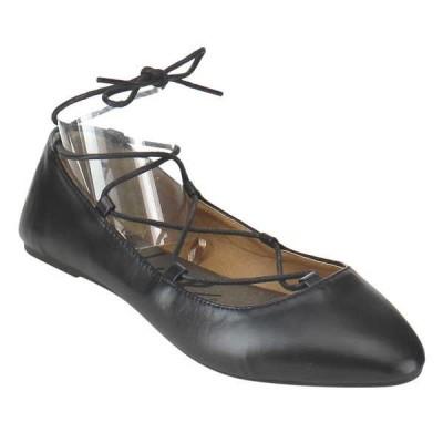 フラット シューズ 靴 ブルースウェードシューズ ブルー スエード シューズ レディース Lace-Up ラップ Crissクロス Ballerina フラットs SUTTON-H-JF BLACK