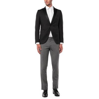 パオローニ PAOLONI スーツ ブラック 50 バージンウール 80% / シルク 20% スーツ