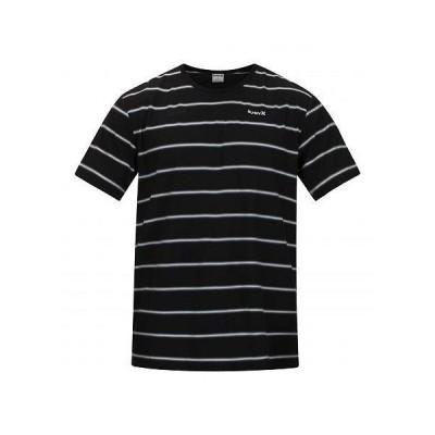 Hurley ハーレー メンズ 男性用 ファッション Tシャツ Serape Stripe Short Sleeve Tee - Black