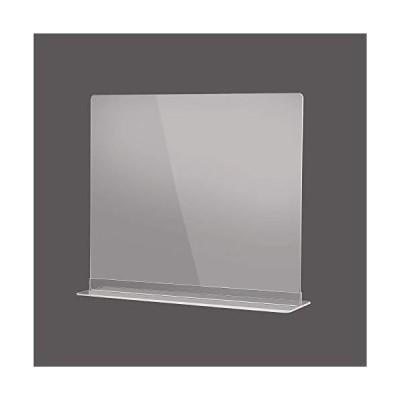 飛沫感染予防 透明アクリルパーテーション 多種サイズ 組立簡単 角丸加工 デスク用スクリーン 間仕切り カウ?