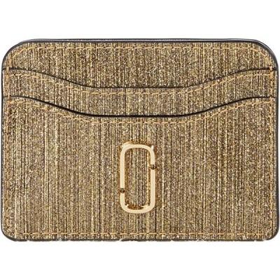 マーク・ジェイコブス Snapshot Glitter Stripe New Card Case レディース 財布 Gold