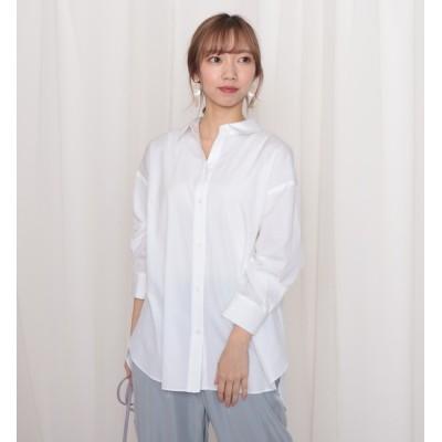 【チーク/Cheek】 100/2ブロード無地・ストライプBIGシャツ