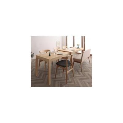 ソファ ソファー 北欧デザイン スライド伸縮テーブル ダイニングセット 6点セット テーブル+チェア4脚+ソファベンチ1脚 W135-235