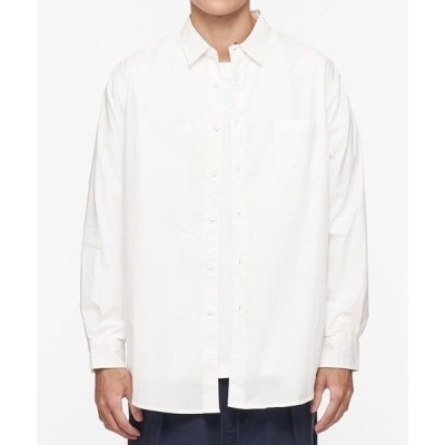 シャツ ブラウス COP ウォッシュドコットンロングシャツ