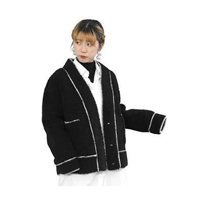 アンドジェイ ステッチ オーバーサイズ ボア コート (4482) ブラック M レディース アウター ジャケット ブルゾン 秋 冬 秋冬